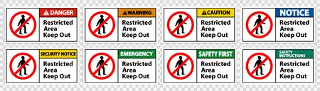 Restricted Area Keep Out Symbol Sign Isolated on transparent Background, Vector Illustration Ilustracja