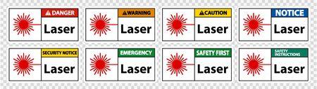 Laser Symbol Sign Symbol Sign Isolated on transparent Background, Vector Illustration