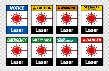 Laser Symbol Sign Symbol Sign Isolate on transparent Background,Vector Illustration