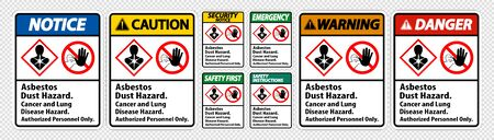 Label Disease Hazard, Authorized Personnel Only Isolate on transparent Background, Vector Illustration