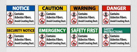 Label Contains Asbestos Fibers,Avoid Creating Dust