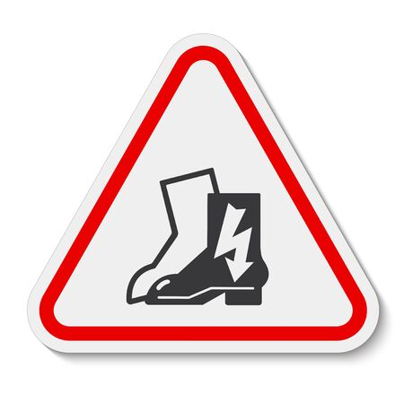 Symbol Wear Electric Shoes Sign Isolate On White Background, Vector Illustration