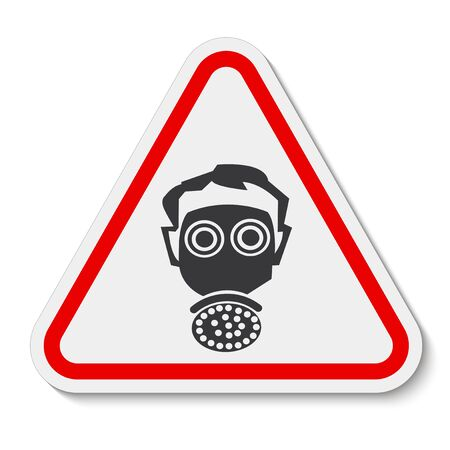 Symbol wear respirator protection Sign Isolate On White Background, Vector Illustration