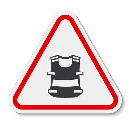 Symbol Wear Vest Isolate On White Background, Vector Illustration