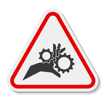 Hand Entanglement Rotating Gears Symbol Sign Isolate On White Background, Vector Illustration
