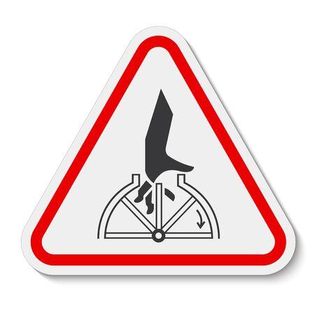 Hand Entanglement Rotating Symbol Sign Isolate On White Background, Vector Illustration Ilustracja