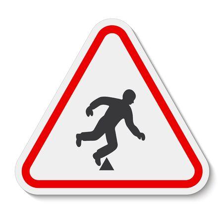 Trip Hazard Symbol Sign Isolate On White Background, Vector Illustration