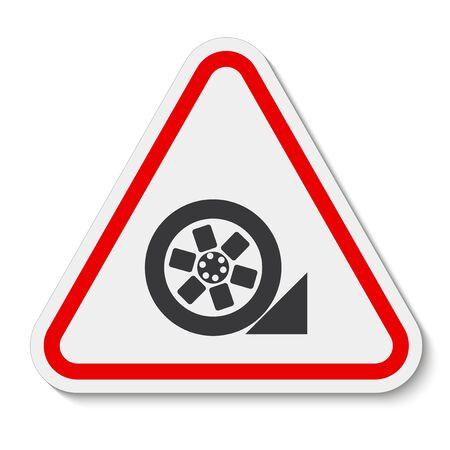 PPE Icon.Use Stopper Symbol Isolate On White Background, Vector Illustration Ilustracja