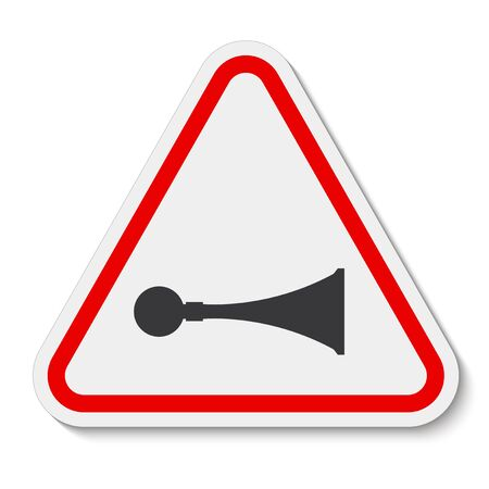 PPE Icon.Sound Horn Symbol Sign Isolate On White Background, Vector Illustration