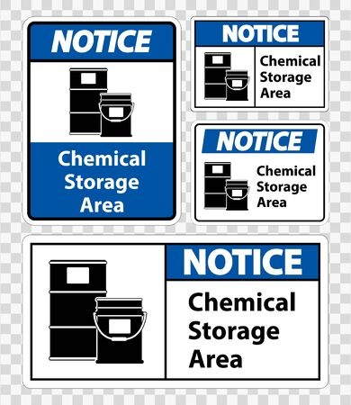 Notice Chemical Storage Symbol Sign Isolate on transparent Background, Vector Illustration