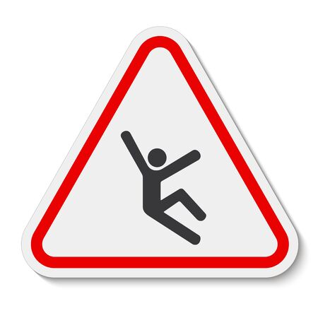 Climb Hazard Symbol Sign Isolate On White Background,Vector Illustration EPS.10 Ilustración de vector