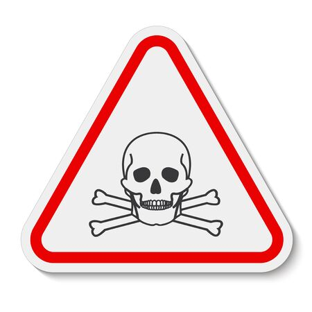 Toxic Material Symbol Sign Isolate On White Background,Vector Illustration EPS.10