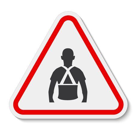Wear Back Support Symbol Sign Isolate On White Background,Vector Illustration EPS.10