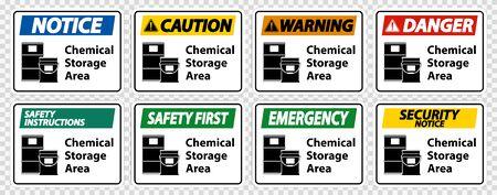 Chemical Storage Symbol Sign Isolate on transparent Background,Vector Illustration