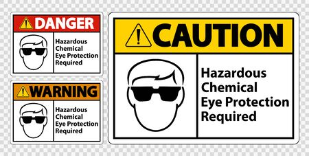 Hazardous Chemical Eye Protection Required Symbol Sign Isolate on transparent Background,Vector Illustration