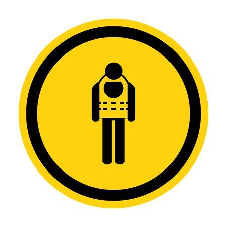 Symbol Wear Life Jacket Isolate On White Background,Vector Illustration EPS.10