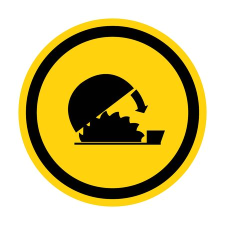Symbol Use Adjustable Guard Isolate On White Background,Vector Illustration
