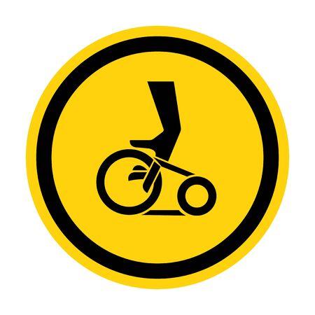 Hand Entanglement Belt Drive Symbol Sign, Vector Illustration, Isolate On White Background Label Ilustracja
