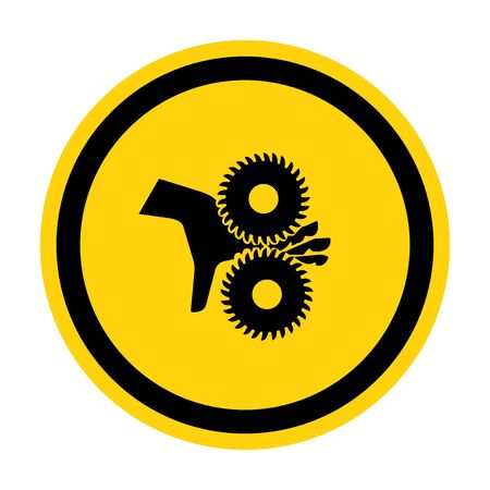 Cutting of Fingers Rotating Blades Symbol Sign, Vector Illustration, Isolate On White Background Label