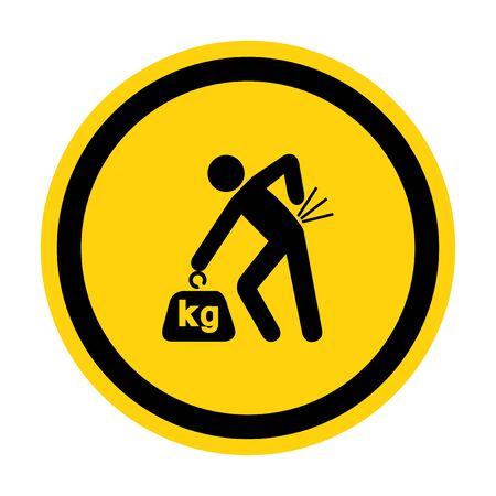 Lifting Hazard Symbol Sign, Vector Illustration, Isolate On White Background Label Vektorgrafik