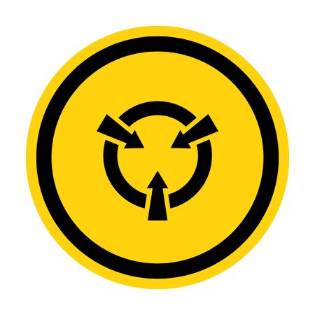 Electrostatic Sensitive Device (ESD) Symbol Sign Isolate On White Background,Vector Illustration