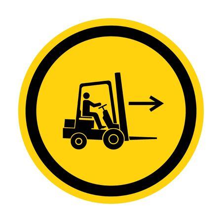 Forklift Point Right Symbol Sign Isolate On White Background,Vector Illustration