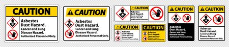 Caution Label Disease Hazard, Authorized Personnel Only Isolate on transparent Background,Vector Illustration Ilustracja