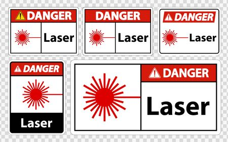 Danger Laser Symbol Sign Symbol Sign Isolate on transparent Background,Vector Illustration 向量圖像