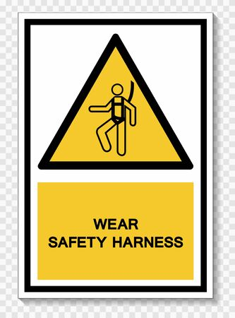 Wear Safety Harness Symbol Sign Isolate On White Background,Vector Illustration EPS.10   イラスト・ベクター素材