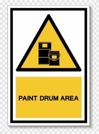 Paint Drum Area Symbol Sign Isolate On White Background, Vector Illustration Ilustração