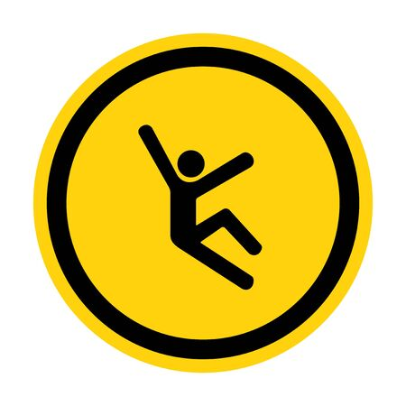 Climb Hazard Symbol Sign Isolate On White Background,Vector Illustration