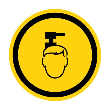 Beware Overhead Hazard Symbol Isolate On White Background,Vector Illustration