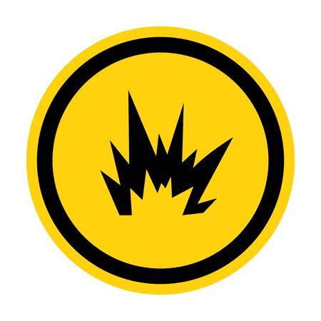 Arc Flash Hazard Symbol Sign, Vector Illustration, Isolate On White Background Label .EPS10 Vector Illustration