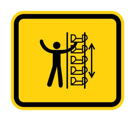 Warning Exposed Buckets and Moving Parts Symbol Sign Isolate on White Background,Vector Illustration