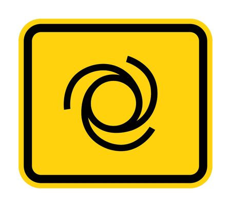 Beware Automatic Start-Up Symbol Sign Isolate On White Background,Vector Illustration EPS.10  Ilustrace
