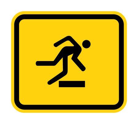 Pas op voor obstakels symbool teken isoleren op een witte achtergrond, Vector Illustratio