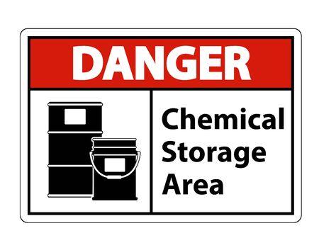 Danger Chemical Storage Symbol Sign Isolate on transparent Background,Vector Illustration