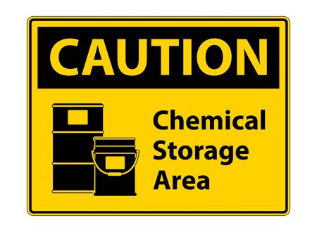 Caution Chemical Storage Symbol Sign Isolate on transparent Background,Vector Illustration  Vettoriali