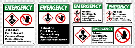 Emergency Label Disease Hazard, Authorized Personnel Only Isolate on transparent Background,Vector Illustration