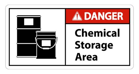 Danger Chemical Storage Symbol Sign Isolate on transparent Background,Vector Illustration  Vettoriali