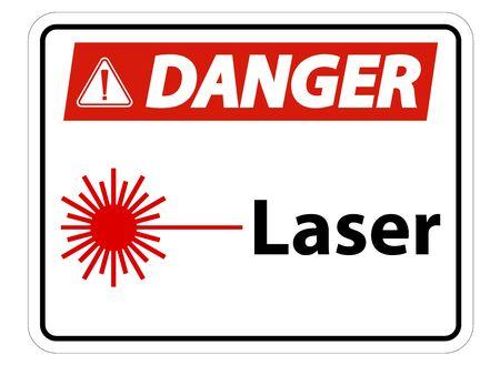 Danger Laser Symbol Sign Symbol Sign Isolate on transparent Background,Vector Illustration