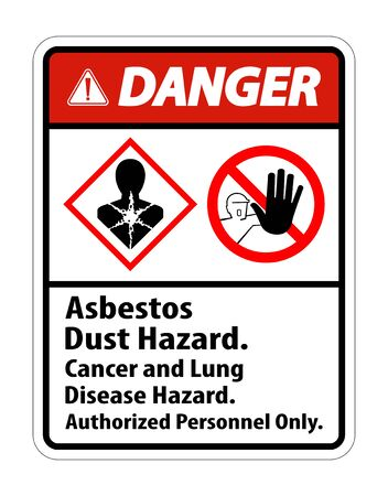 Danger Label Disease Hazard, Authorized Personnel Only Isolate on transparent Background,Vector Illustration