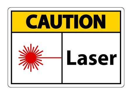 Caution Laser Symbol Sign Symbol Sign Isolate on transparent Background,Vector Illustration   イラスト・ベクター素材