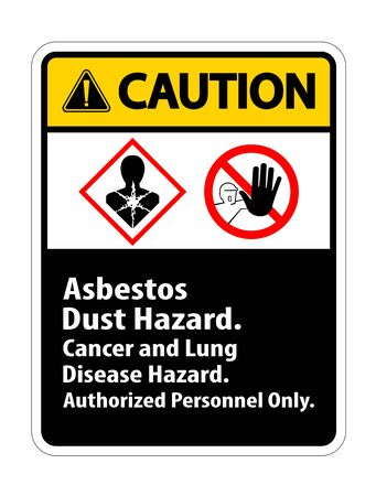 Caution Label Disease Hazard, Authorized Personnel Only Isolate on transparent Background,Vector Illustration