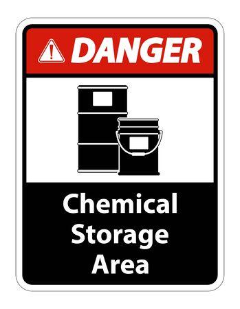Isoler le signe de symbole de stockage chimique de danger sur le fond transparent, illustration de vecteur