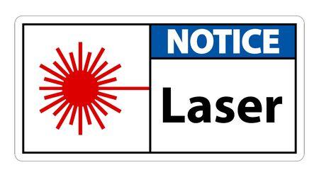 Notice Laser Symbol Sign Symbol Sign Isolate on transparent Background,Vector Illustration  イラスト・ベクター素材