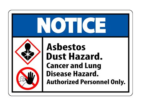 Notice Label Disease Hazard, Authorized Personnel Only Isolate on transparent Background,Vector Illustration