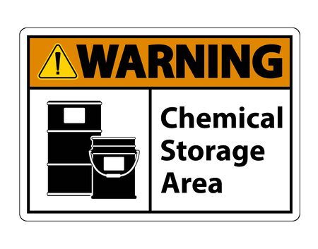 Warning Chemical Storage Symbol Sign Isolate on transparent Background,Vector Illustration