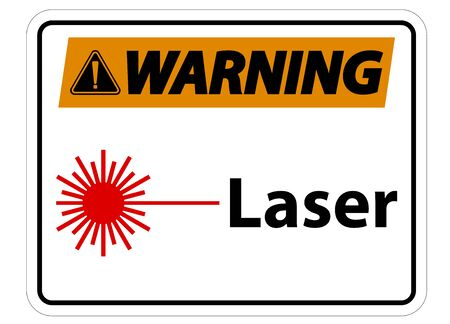 Warning Laser Symbol Sign Symbol Sign Isolate on transparent Background,Vector Illustration