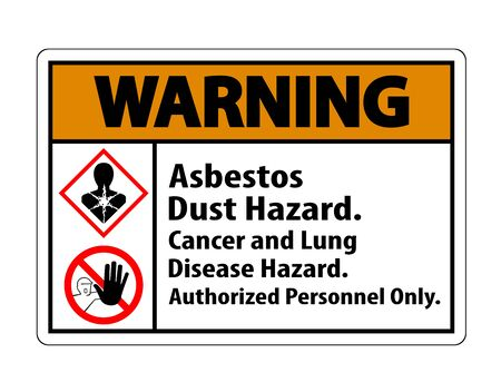 Warning Label Disease Hazard, Authorized Personnel Only Isolate on transparent Background,Vector Illustration